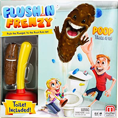 Mattel Games Flushin' Frenzy, Yellow: Toys & Games