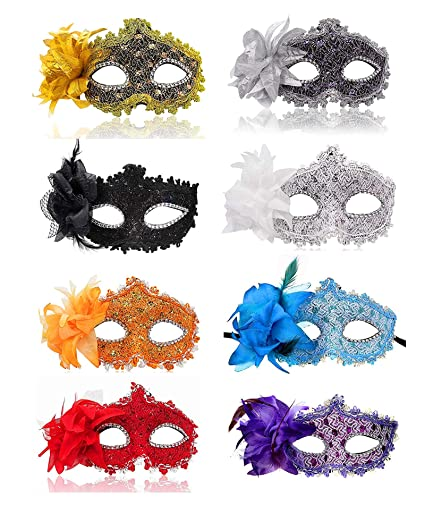 62d2a95641ff9 Image Unavailable. Image not available for. Color: Ru S Masquerade Party  Masks Womens Masks Venetian Ball ...