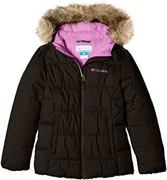 Amazon.com: Columbia Girls GYROSLOPE Jacket-Black/CrownJewel M: Sports & Outdoors