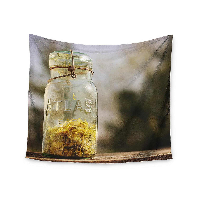 Kess InHouse Angie Turner Jar of Sunshine Country Fleece Throw Blanket 80 by 60