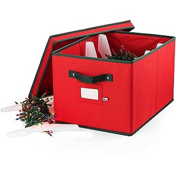 Amazon.com: ZOBER - Caja de almacenamiento de luz de Navidad ...