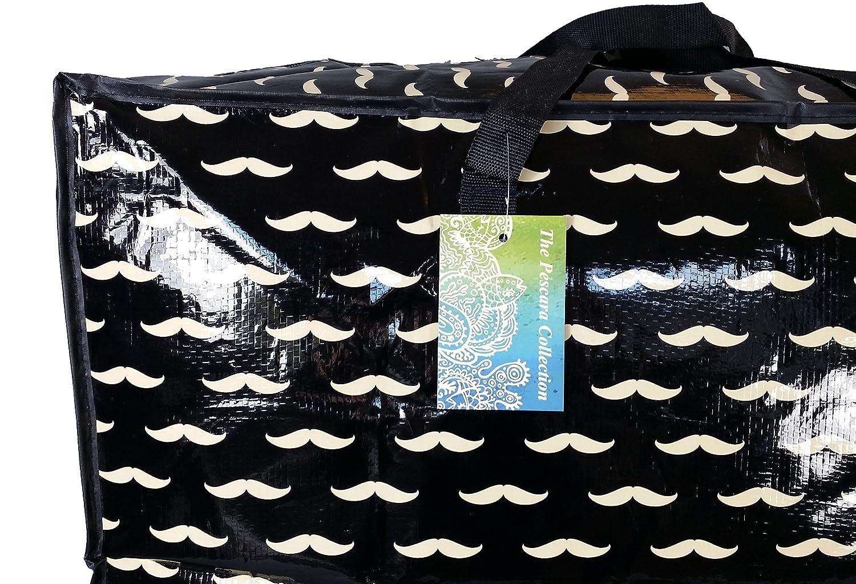 Juguetes el lavado y la bolsa de lavander/ía Bolsa de almacenamiento muy grande de 115 L Patr/ón de bigote negro