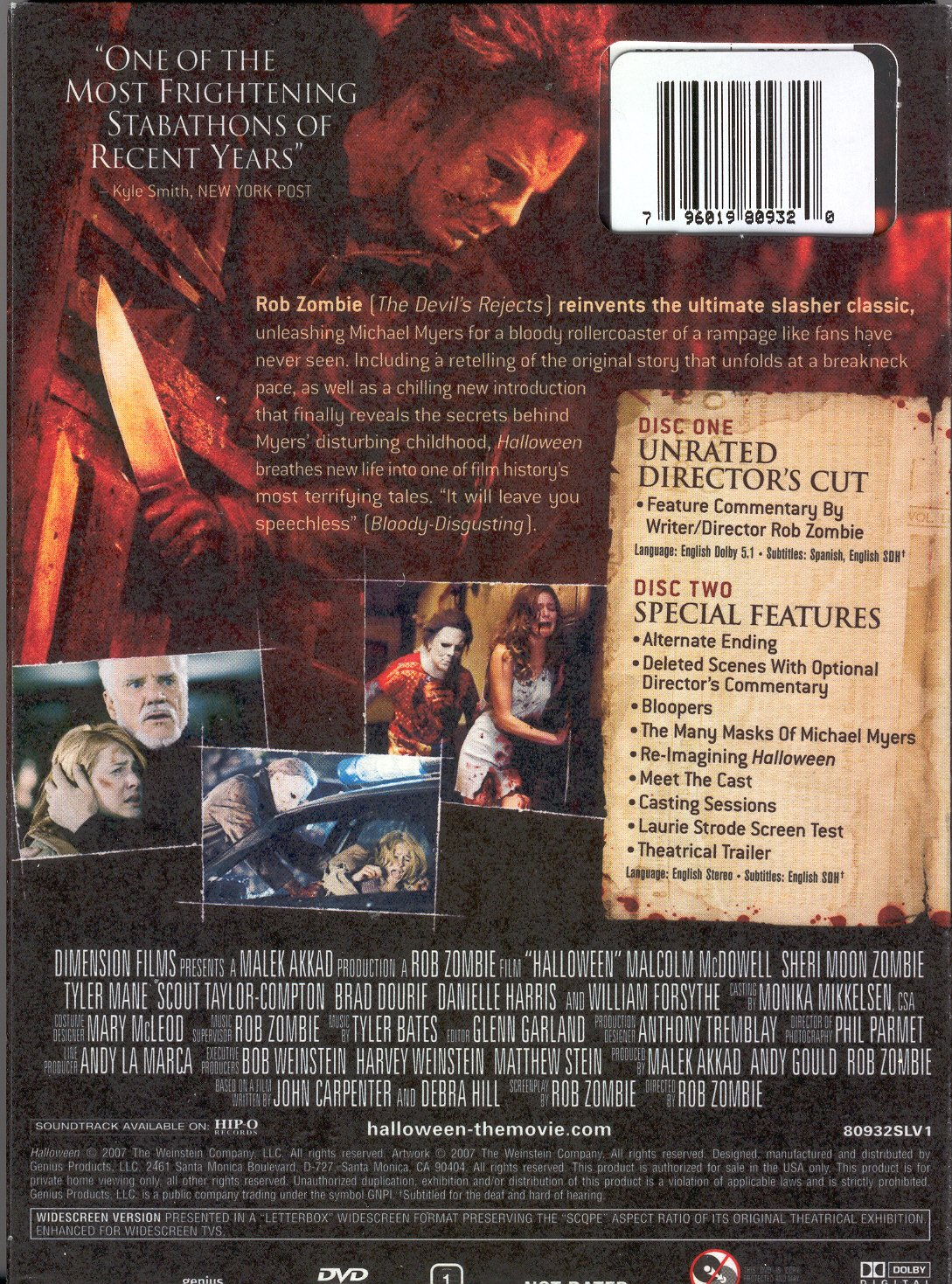 Amazon.com: Rob Zombie's HALLOWEEN UNRATED Director's Cut (with ...