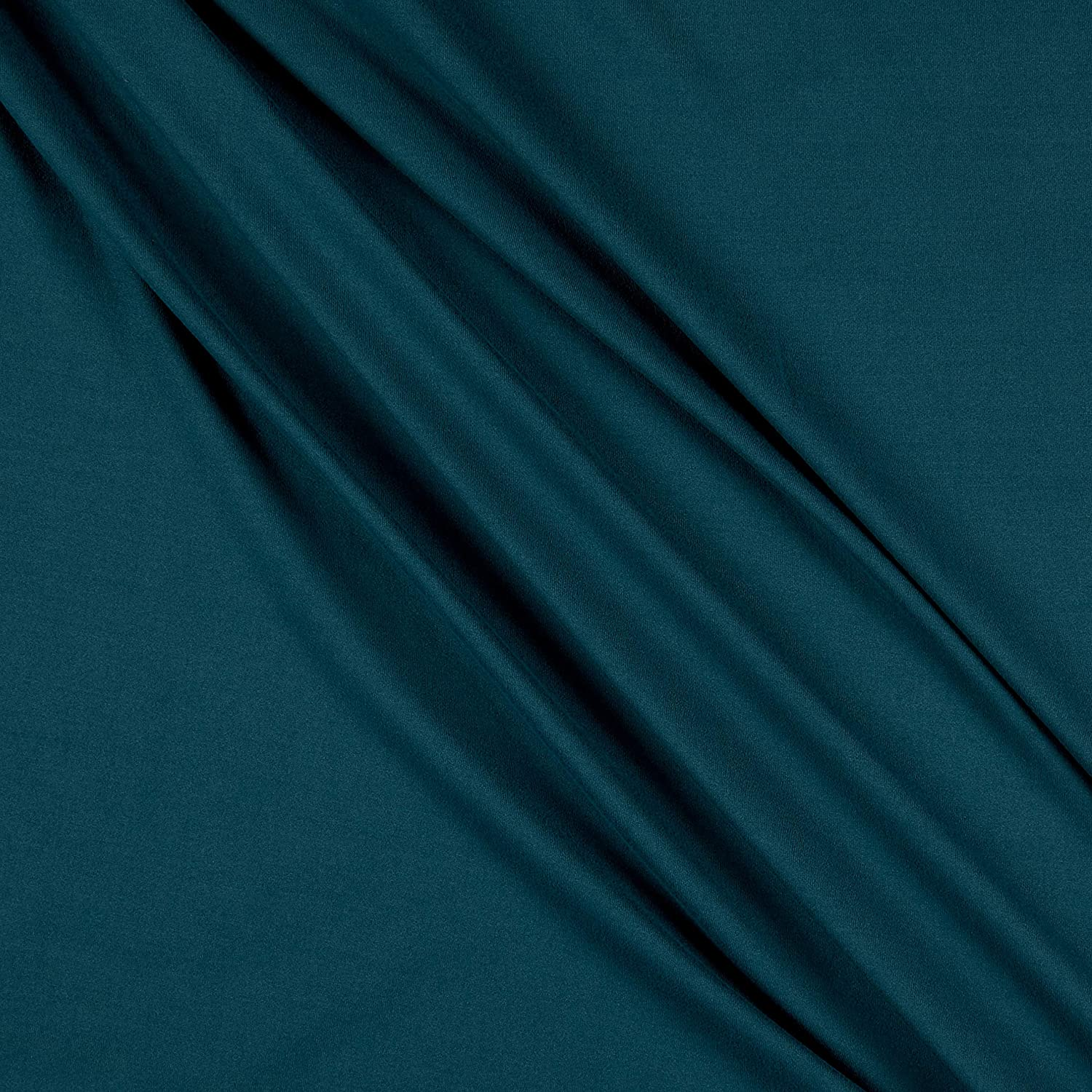 Teal Bamboo Organic Cotton Extra Soft Jersey Fabric By the Yard