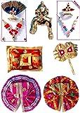 Nirmal Mukut Shringar Ladoo Gopal Shringar Set (Multicolour)