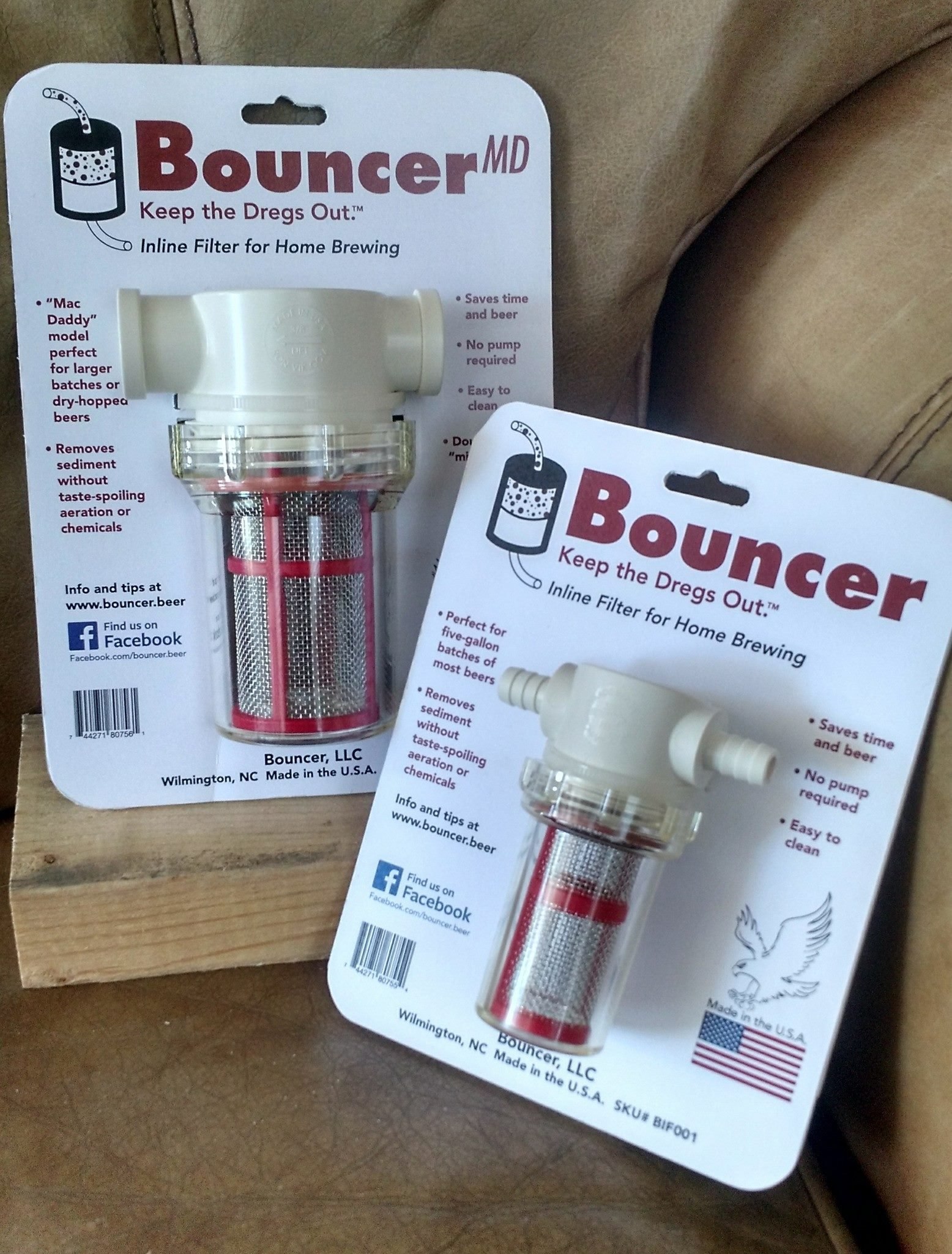 BouncerMD inline beer filter (Mac Daddy)