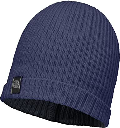 One Buff Basic Knitted Hat Navy Blue SS18