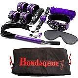 BONDAGERIE® BDSM Kit per Bondage, con sacco in Raso, 9 Pezzi, Novità 2017 BI-COLOR!