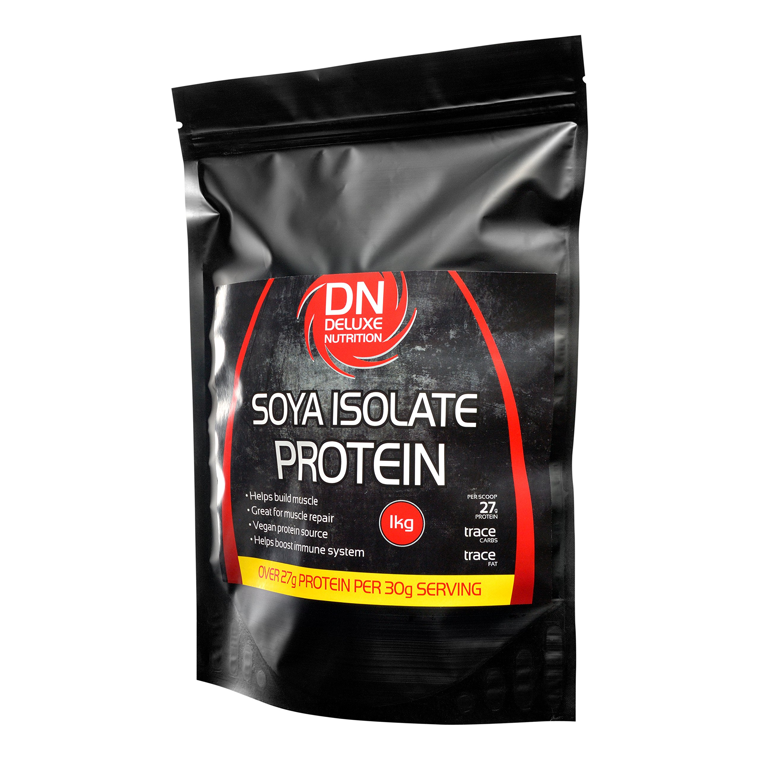Deluxe Nutrition 1Kg Unflavoured Soya Protein Isolate Powder