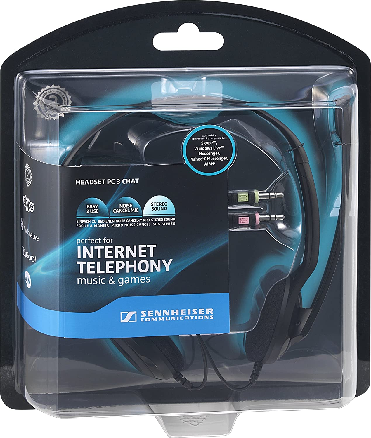 Sennheiser Pc 3 Chat On Ear Headphone With Mic Electronics Usb Headset Wiring Diagram Furthermore Wire Jack