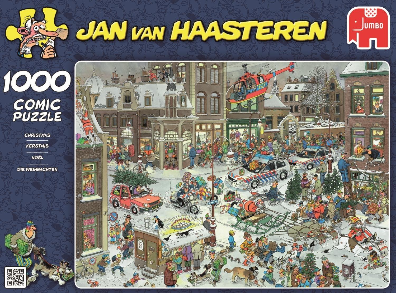 Jumbo Puzzle Winterspiele Sport Cartoon 1000 Teile Eisbahn Haasteren