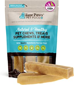 Raw Paws Large Yak Cheese Himalayan Dog Chews, 3 Pack - Packed in USA - Natural Yak Chews for Medium Dogs to Large - Churpi Durkha Himalayan Yak Dog Chew Bones - Digestible Yak Milk Dog Chew Large
