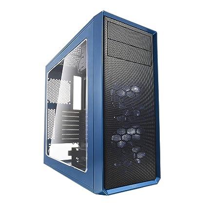 Fractal Design Focus G Midi-Tower Negro, Azul Carcasa de Ordenador - Caja de Ordenador (Midi-Tower, PC, ATX,ITX,Micro-ATX, Negro, Azul, Blanco, ...