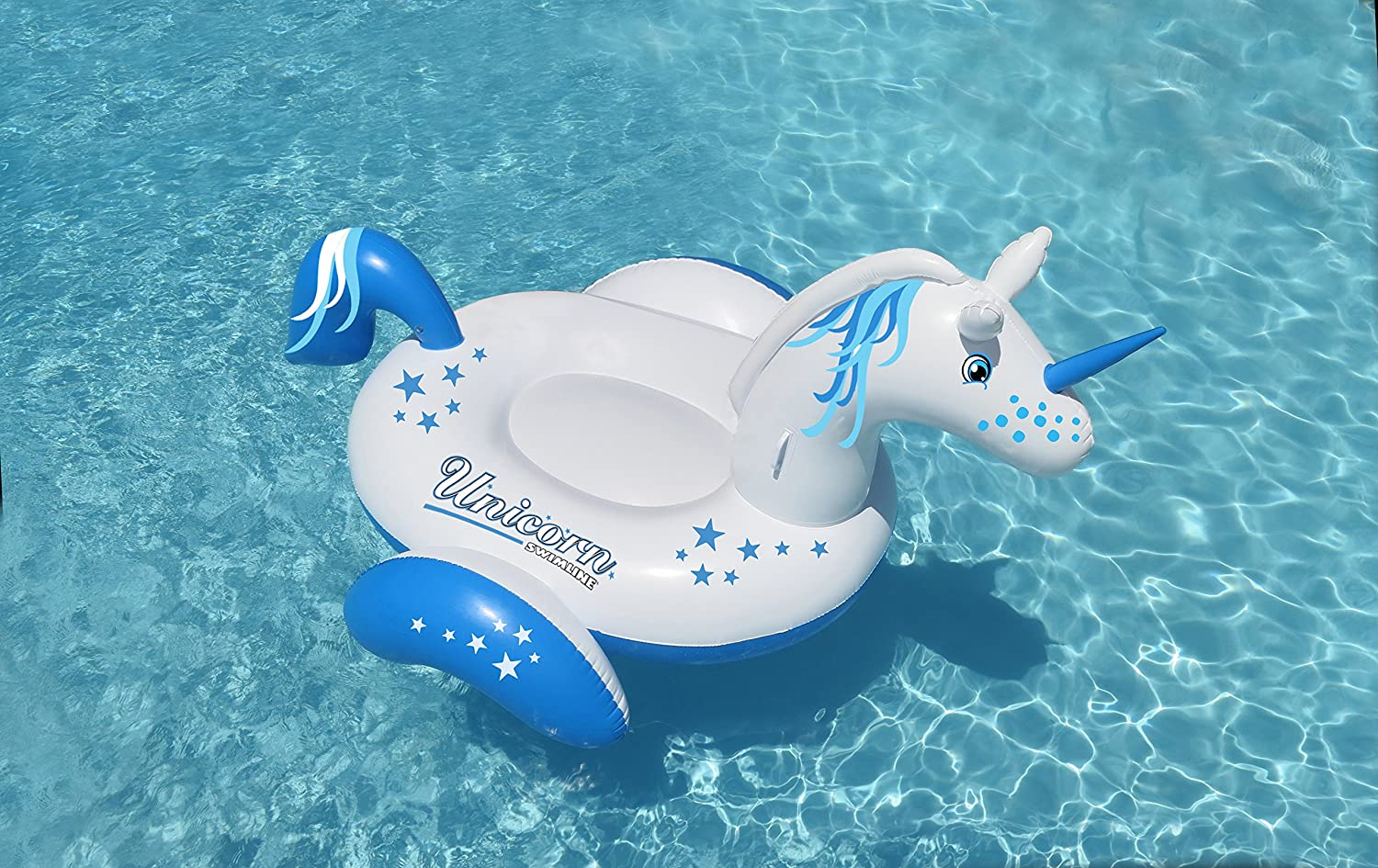 Amazon.com: Swimline gigante unicornio piscina Flotador ...