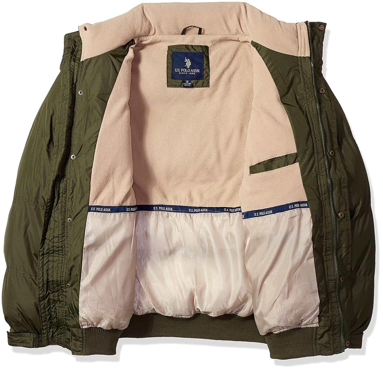 Mens Big and Tall Classic Short Bubble Jacket U.S Polo Assn