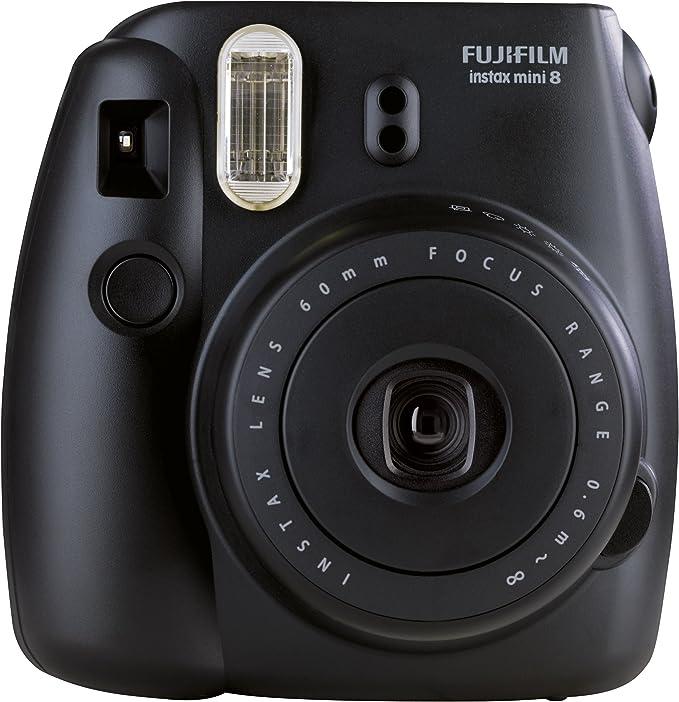 Fujifilm Instax Mini 8 - Cámara analógica instantánea (flash, velocidad de obturación fija de 1/60 s), color negro: Fujifilm: Amazon.es: Electrónica