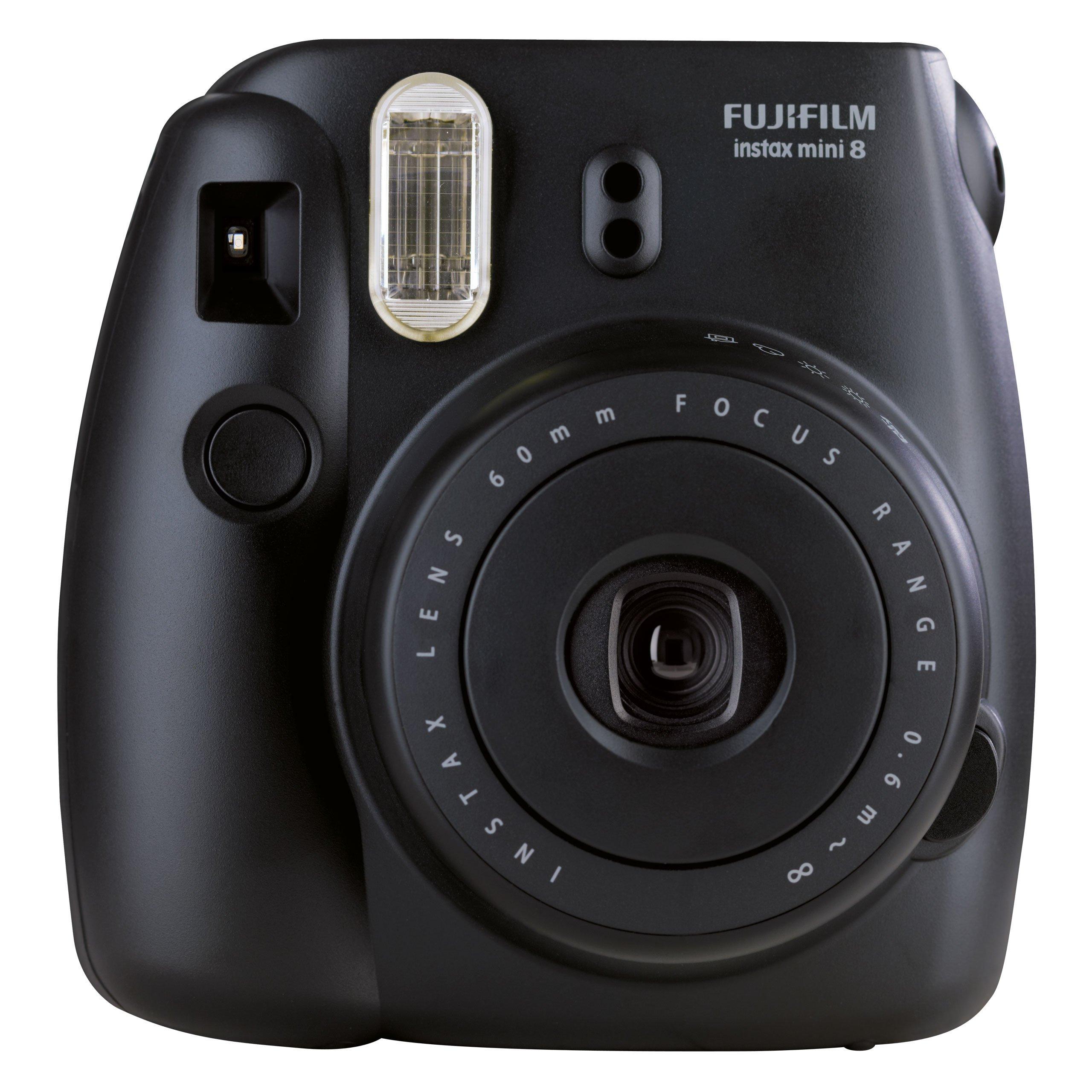 Fujifilm Instax Mini 8 Schwarz Instant Film Compact Camera Built-In Flash