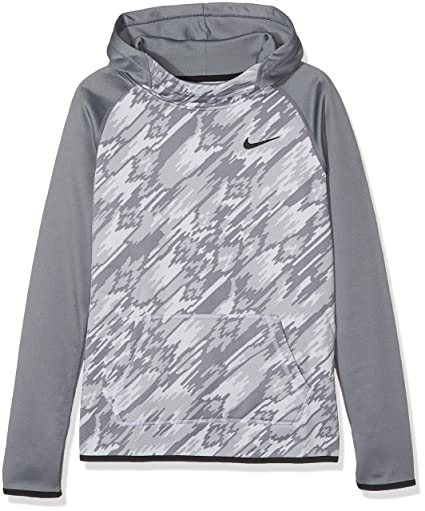 638ed9548fbf Nike Kids Girls Therma Training Print Hoodie (Little Kids Big Kids) Cool  Grey