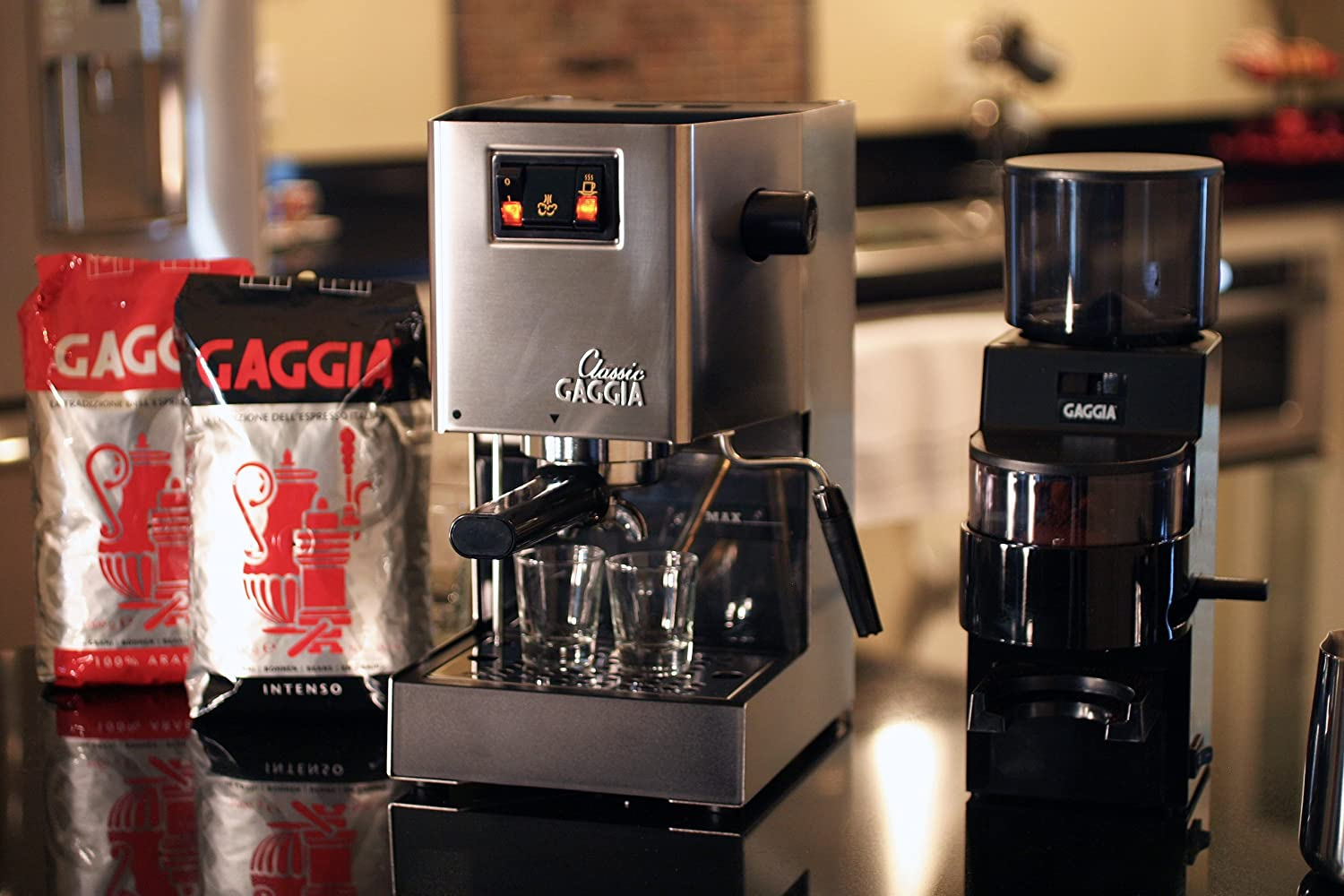 Electronic Classic Gaggia Coffee Machine amazon com gaggia 14101 classic espresso machine brushed stainless steel kitchen dining