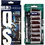 Quad Store QS_60in1_S2 Precision Screw Driver Set S2 Steel for Smartphone, Mobile, Laptop, Tablet, Game Console And Household Repair Tool Kit, Green