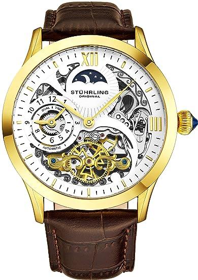 Original Reloj Analógico Stührling 571 3335k2 HombreCorrea Marrón Para De CueroColor D9IeEH2YW