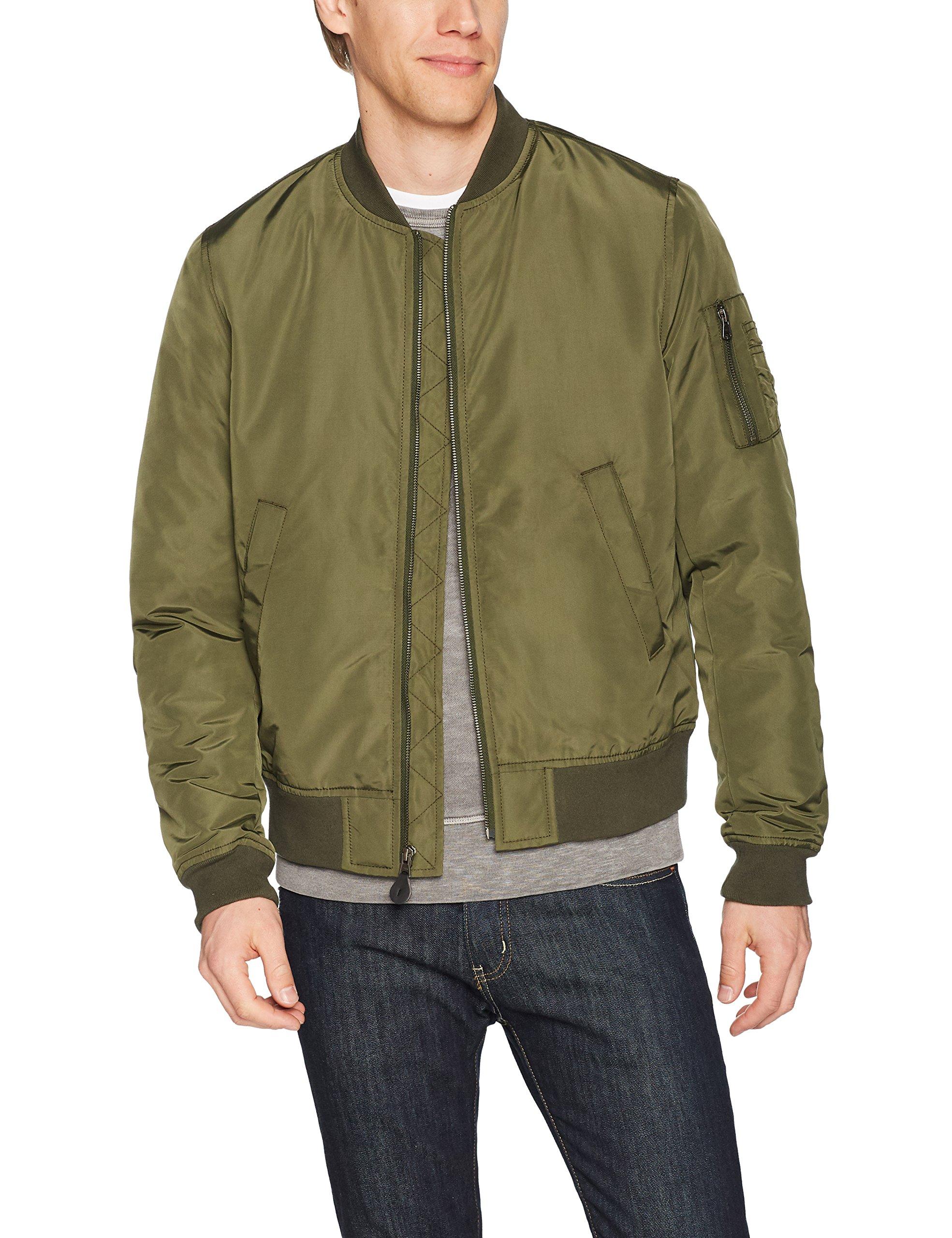 Goodthreads Men's Bomber Jacket, Olive, Large by Goodthreads