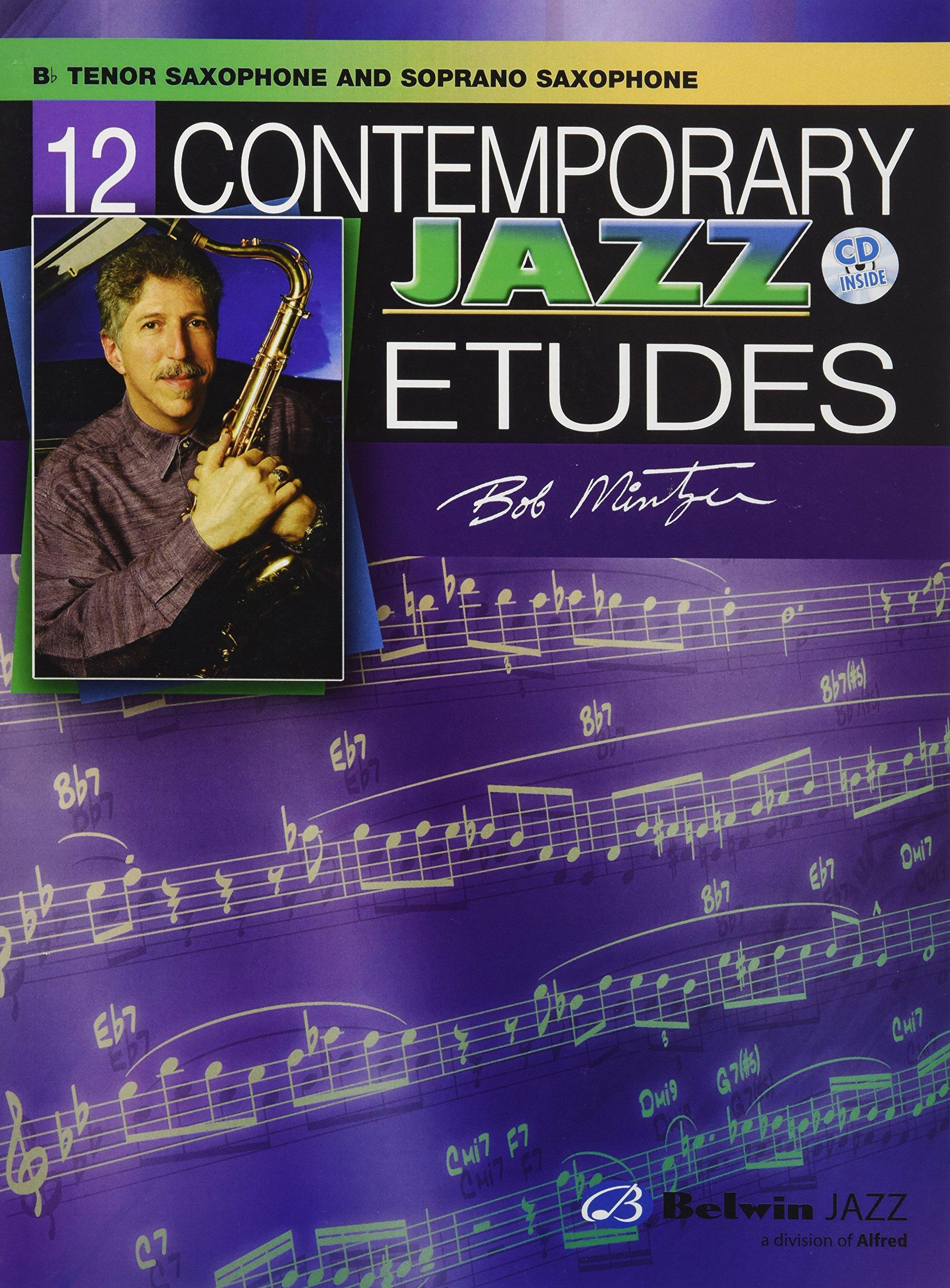 12 Contemporary Jazz Etudes: B-flat Tenor Saxophone, Book & CD pdf epub