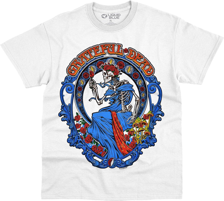 Liquid Blue Grateful Dead Vintage Bertha White T-Shirt