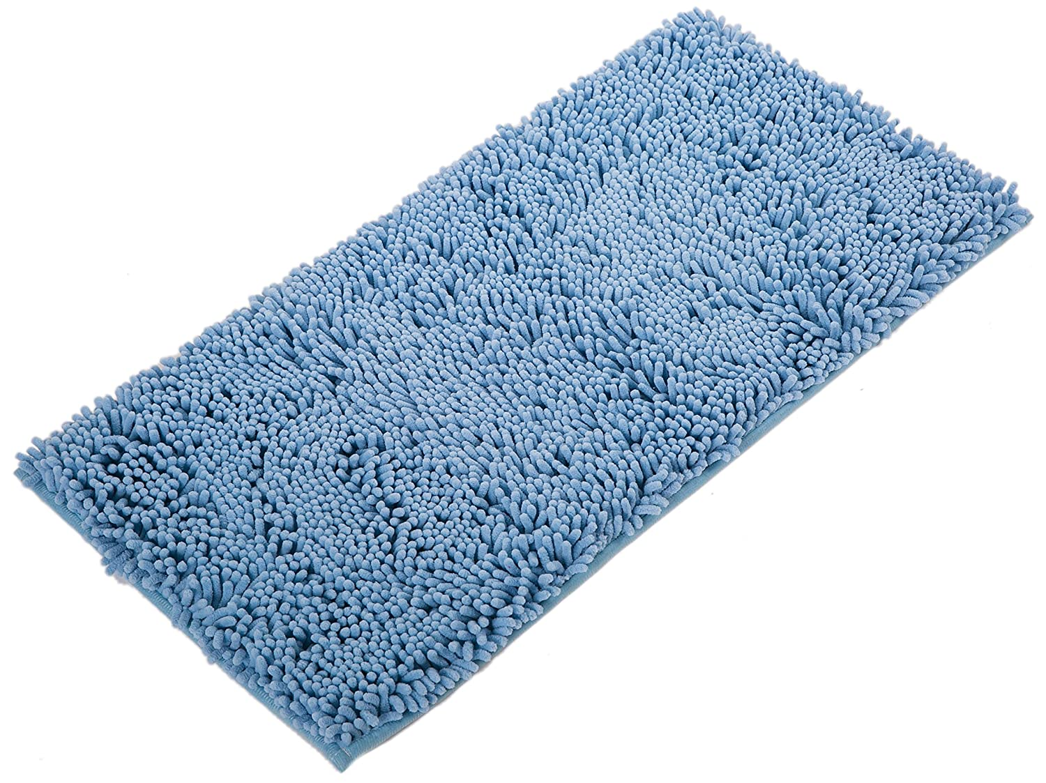 Bath Mat Non Slip Bath Rugs Absorbent Mat Chenille Fabric Soft Bathroom Carpet 82 x 40 CMS (Black) Airee Fairee