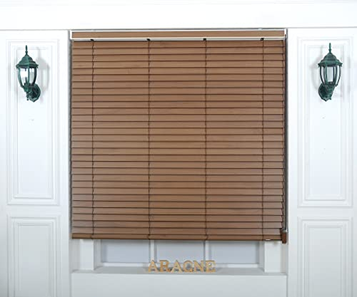 Foiresoft Custom Cut to Size, Winsharp Wood Paulownia, Paulownia_03, W 83 x H 72 inch Horizontal Window Real Wood Paulownia Blinds, 20 to 110 inch Wide
