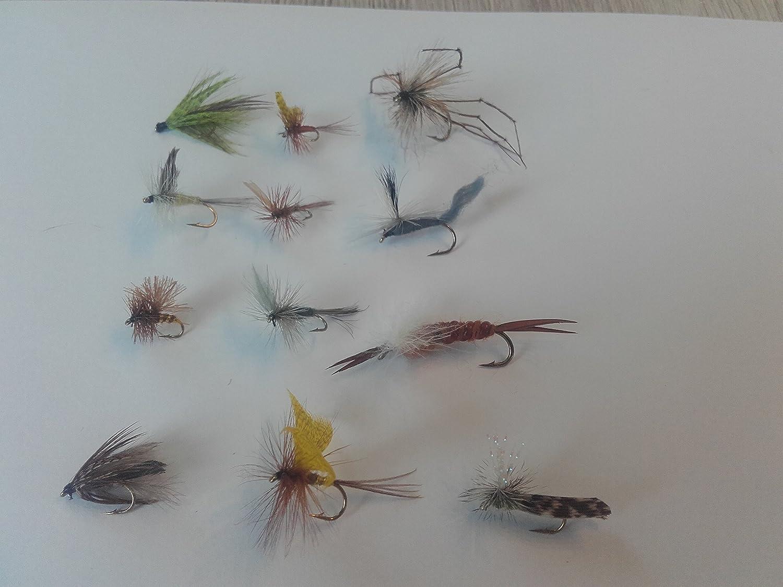 Fliegenset, 'Trocken 1 ', verschiedene Hakengrö ß en, best. aus 12Stck. Trockenfliegen Trocken 1