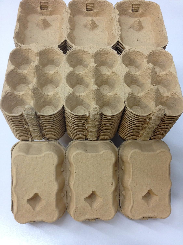 100 X 1/2 DOZEN EGG BOXES NEW (COFFEE/BEIGE COLOUR) ANGLIA FARM SUPPLIES
