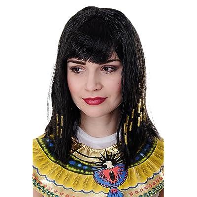 WIG ME UP ® - Peluca Cleopatra, Halloween, Diva, Hollywood, para carnaval: Juguetes y juegos