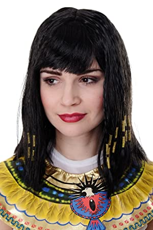 WIG ME UP ® - Peluca Cleopatra, Halloween, Diva, Hollywood, para carnaval