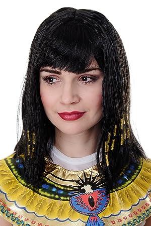 WIG ME UP ® - Peluca Cleopatra, Halloween, Diva, Hollywood, para carnaval