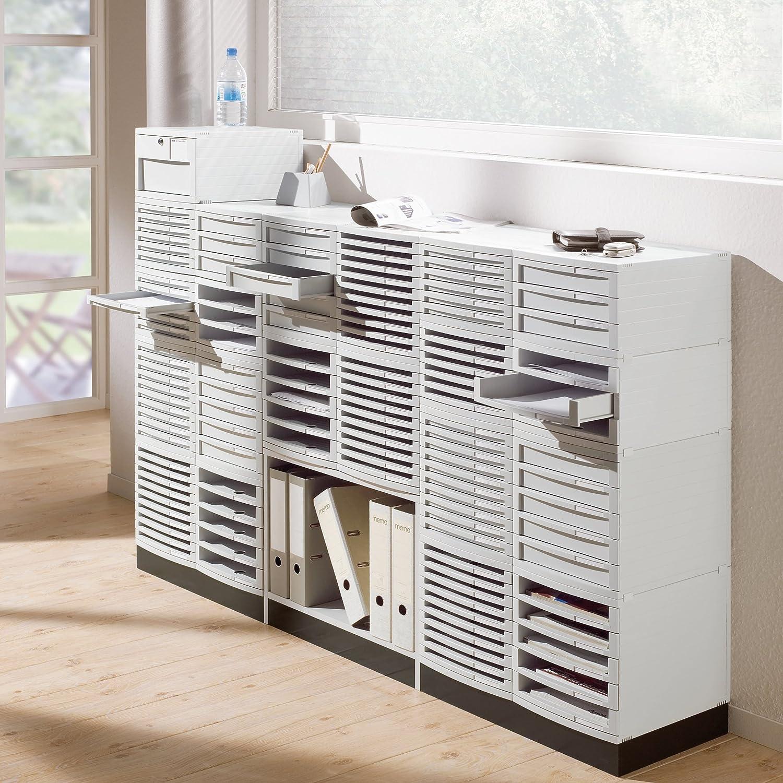 module /à tiroirs CONTUR gris clair HAN 1505-11 qualit/é premium pour une organisation professionnelle avec 5 tiroirs ferm/és syst/ème dorganisation moderne extensible