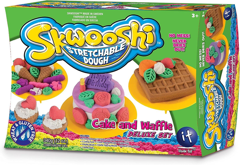 Skwooshi Stretchable Dough Cake /& Waffle Deluxe Set