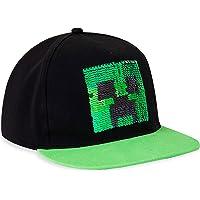 Minecraft Gorra Niño   Gorra Niño con El Logo, Rejilla Negra Y Pixelado Verde   Gorra Protección Solar para Niños…