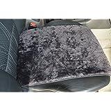 Autofell-Autositz Auflage/Aufleger aus Merino Lammfell Premium 36cm Breite x 60cm Länge für Sitzfläche (Schiefer) auch auf Rücksitzbank.