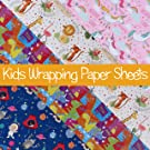Wrapping Paper for Kids & Children | Equivalent to 24 Sheets of 70cm x 50cm | 8 Super Large Sheets of 70cm x 150cm Folded Multipack Birthday Gift Wraps | 4rd Edition