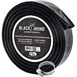 "U.S. Pool Supply Black Rhino 2"" x 100' Pool Backwash Hose with Hose Clamp - Extra Heavy Duty Superior Strength, Thick 1…"