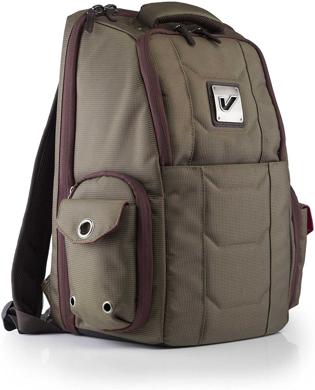 Gruv Gear Club Bag Elite Flight-Smart Tech Backpack, Pewter/Crimson