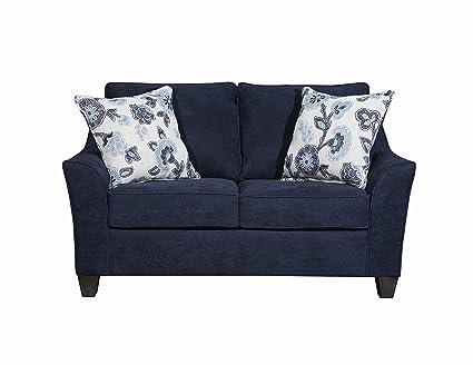 Simmons Upholstery 4330-02 Prelude Navy Loveseat