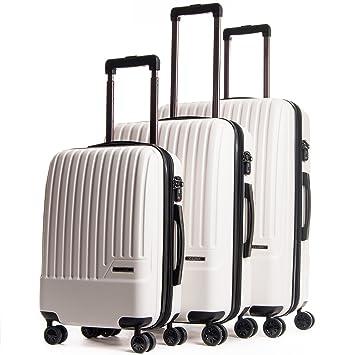 fbc762845 Amazon.com | CALPAK Davis Expandable Luggage Set, Ivory | Luggage Sets