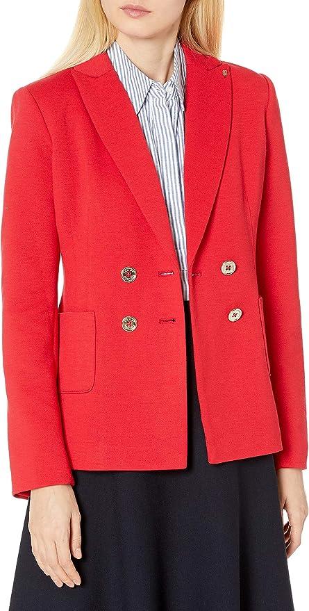 Tommy Hilfiger 汤美费格 纯色双排扣 女式西装外套 3折$41.63 海淘转运到手约¥355
