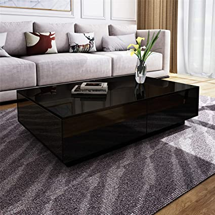 Modern Brown Rectangle Coffee Table