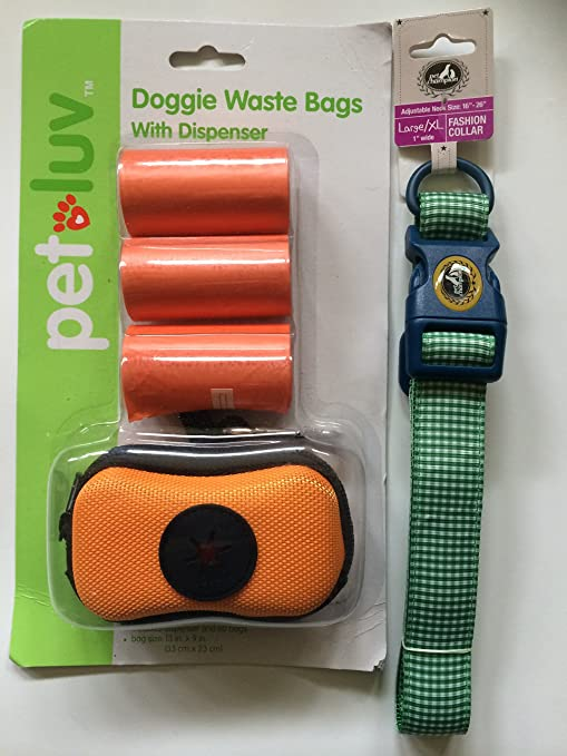 Pet Luv Doggie Bolsas de basura con dispenser-color naranja ...