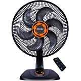 Ventilador Ts40 Total Control Mallory Preto/laranja