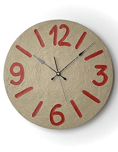 Reloj de Pared moderno, redondo, ideal para cocinas, habitaciones y salones. Incluye péndulo. Fabricación Artesanal en España. Decora tu hogar. Regalo original: Amazon.es: Handmade
