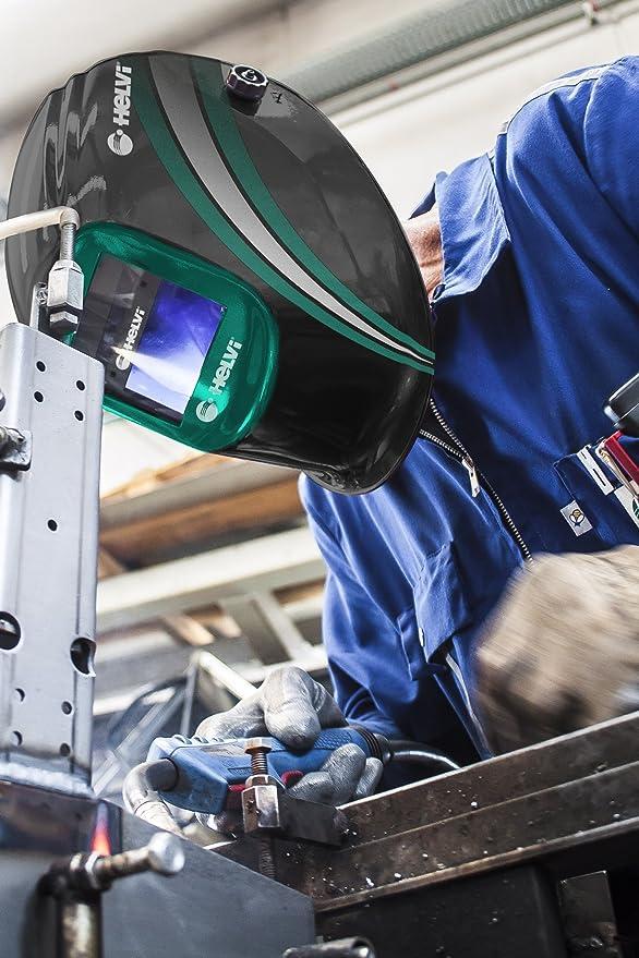 helvi 1 máscara de Soldador fotosensible Vision 2.1, Color Negro/Verde: Amazon.es: Bricolaje y herramientas